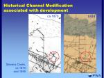 historical channel modification associated with development