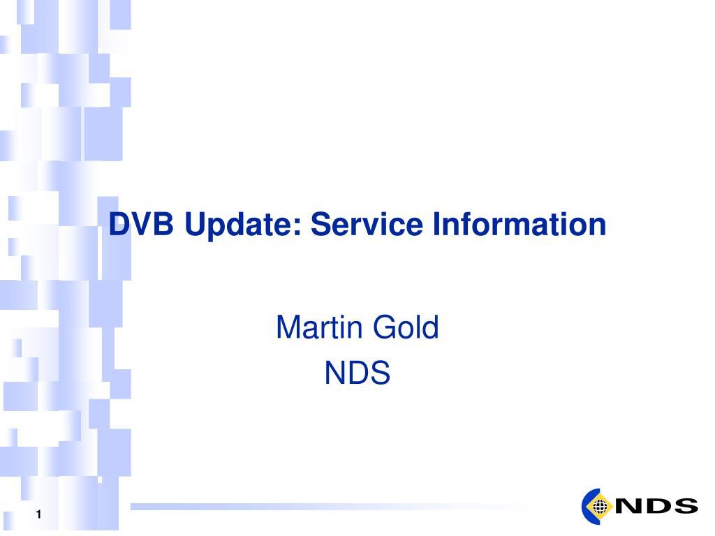dvb update service information l.