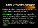 basic syntactic concepts5