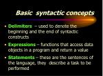basic syntactic concepts6