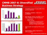cmmb 2007 8 diversified business strategy