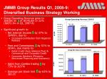jmmb group results q1 2008 9 diversified business strategy working15