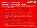 stunning events in the international financial markets