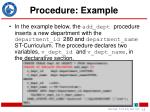 procedure example
