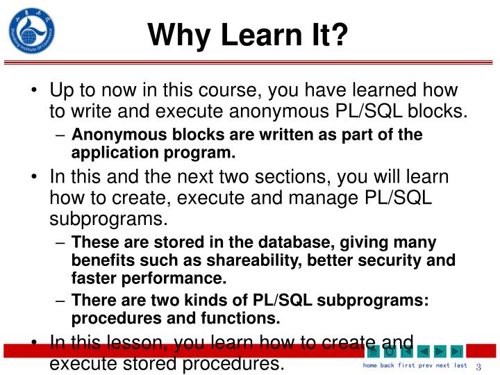 Why learn it