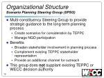 organizational structure scenario planning steering group spsg