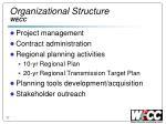 organizational structure wecc