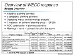 overview of wecc response budget overview
