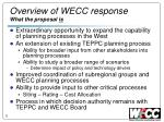 overview of wecc response what the proposal is
