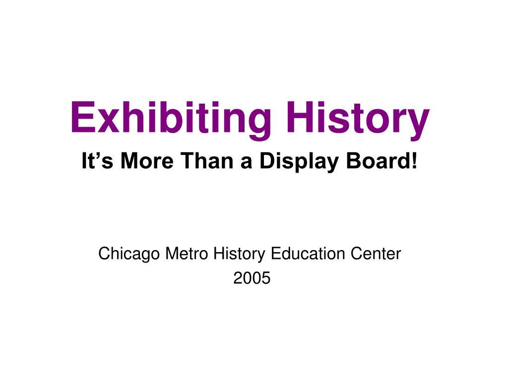 exhibiting history l.