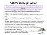 sabc s strategic intent