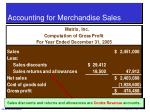 accounting for merchandise sales32