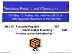 purchase returns and allowances25
