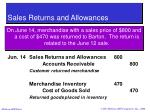sales returns and allowances37