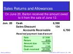 sales returns and allowances38