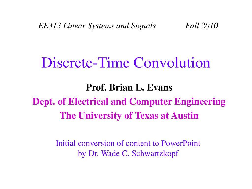 discrete time convolution l.