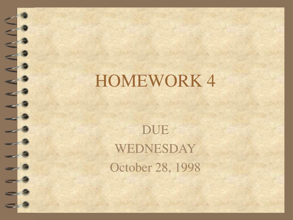 homework 4 l.