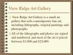 view ridge art gallery