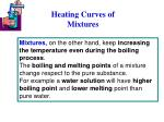 heating curves of mixtures