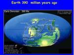 earth 390 million years ago
