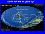 earth 514 million years ago