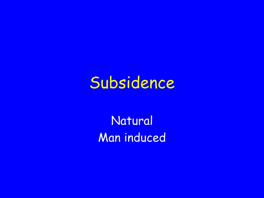subsidence l.