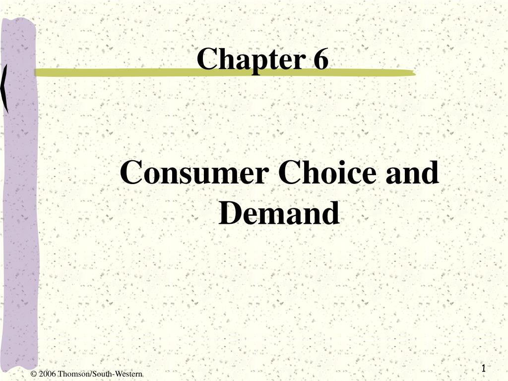 consumer choice and demand l.