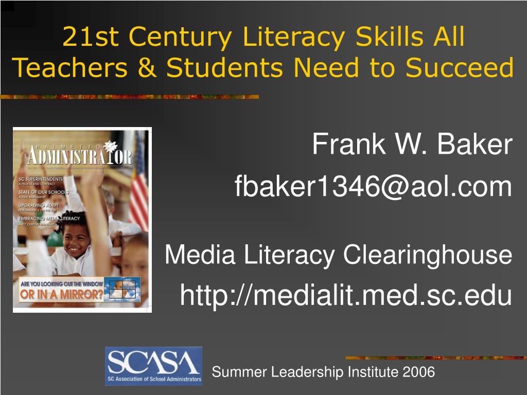 21st century literacy skills all teachers students need to succeed l.