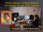 media literacy critical skills knowledge for the 21st century