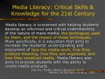 media literacy critical skills knowledge for the 21st century11