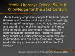 media literacy critical skills knowledge for the 21st century13