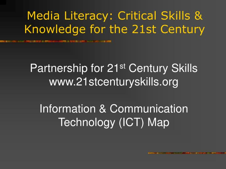 literacy for the 21ft century analysis Literacy for the 21st century offers two major contributions to the teacher who chooses to pick it up one is a comprehensive picture of what literacy instruction must include today.
