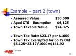 example part 2 town
