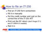 how to file an it 250