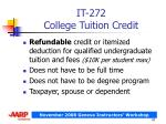 it 272 college tuition credit
