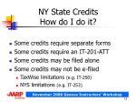 ny state credits how do i do it