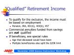 qualified retirement income