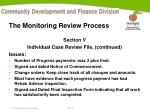 the monitoring review process10