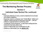 the monitoring review process11