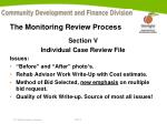 the monitoring review process9