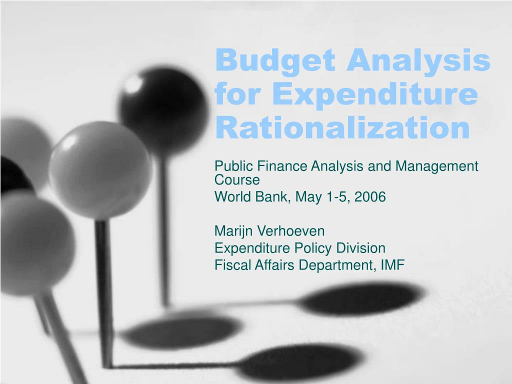 budget analysis for expenditure rationalization l.