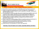 city finance key imperatives cont