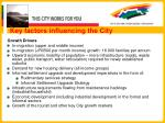 key factors influencing the city