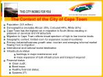 the context of the city of cape town