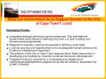 what can government do to support growth of the city of cape town cont