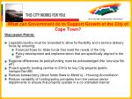 what can government do to support growth of the city of cape town