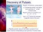 discovery of pulsars