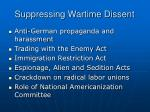 suppressing wartime dissent