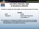 les dons manuels legs et donations affect s50