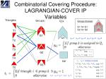 combinatorial covering procedure lagrangian cover ip variables